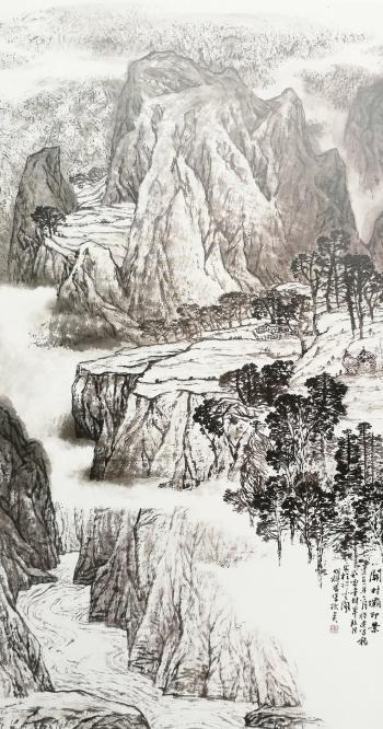 关村坝即景 70cm×138cm